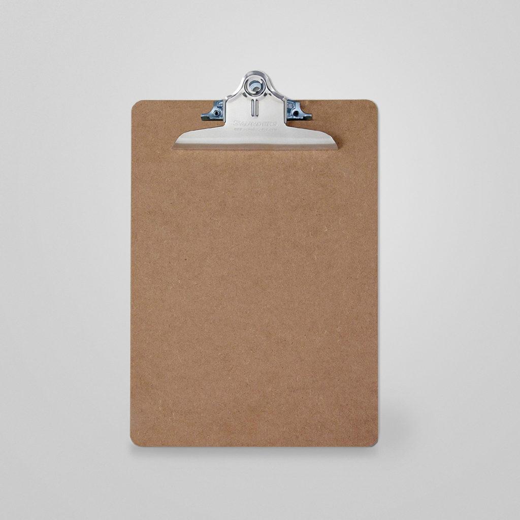 Saunders Clipboards. Robustes Klemmbrett für DIN A4 aus recycelter Holzfaser. Eine super Erfindung!  Details & Bestellung
