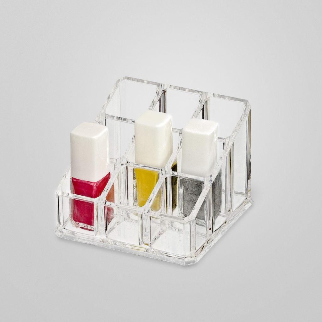 Kosmetik-Organizer aus hochwertigem und hochglänzendem Acryl. Und man hat die Übersicht, was man so alles hat…  Details & Bestellung